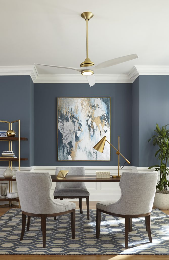 Gold_white_ceiling_fan_dining_room