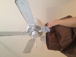 Cleaning_ceiling_fan_pillowcase